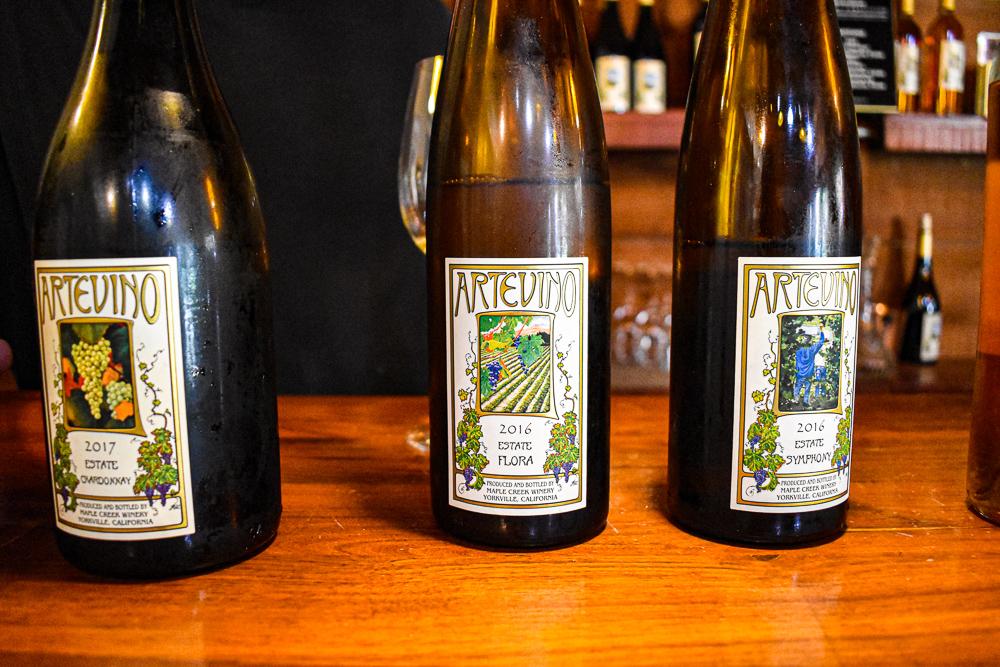 Artevino Wine tasting in Mendocino California